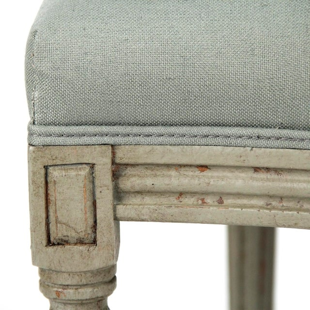 2020s Everest Medallion Tufted Back Side Chair in Sage Linen For Sale - Image 5 of 6