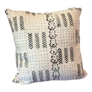 Ivory Handmade Mudcloth Pillow