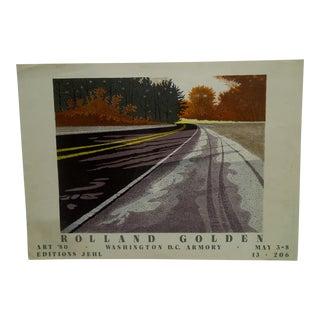 1980 Roland Golden Art Poster For Sale