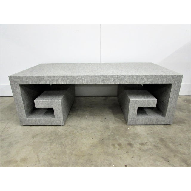 Maison Jansen Jansen Manner Handcrafted High End Coffee Table with Greek Key Base For Sale - Image 4 of 10