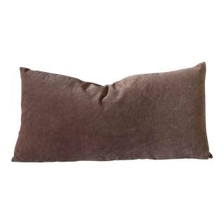 Kirsten Hecktermann Hand-Dyed Mauve Velvet Pillow Cover For Sale