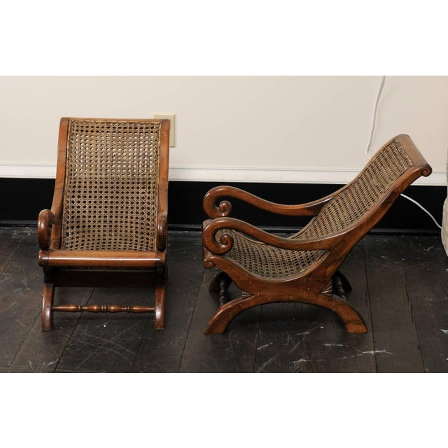 Wood Pair of French 19th Century English Children's Chairs With Cane Backs and Seats For Sale - Image 7 of 11