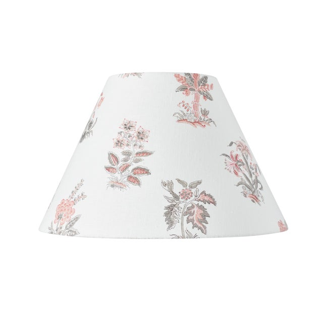 Schumacher Bunny Linen Lampshade in Rose For Sale