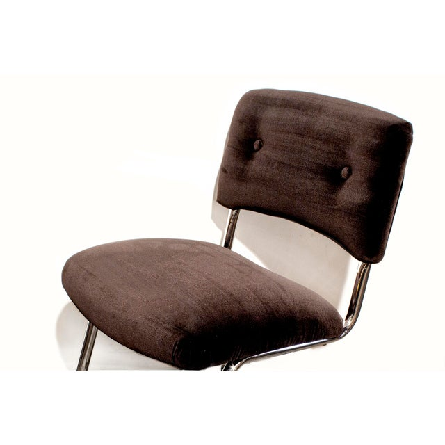 Steelcase Brown Micro-Velvet Cantilever Side Chair - Image 5 of 7