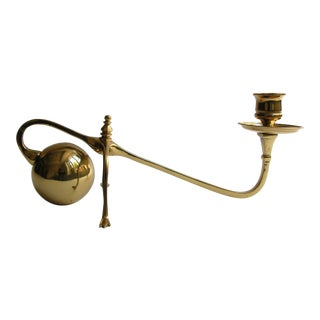 W.A.S. Benson Style Cannonball Candle Holder For Sale