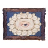 Image of Portrait Painting of Victorian Lovers Eye For Sale