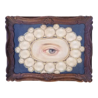 Portrait Painting of Victorian Lovers Eye For Sale