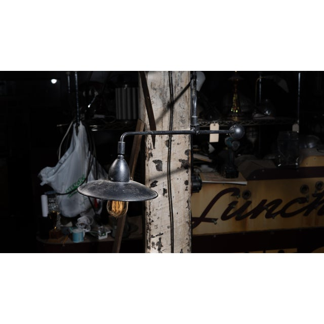 Restoration Hardware Restoration Hardware Mid Century Style Swing Arm Lamp For Sale - Image 4 of 7