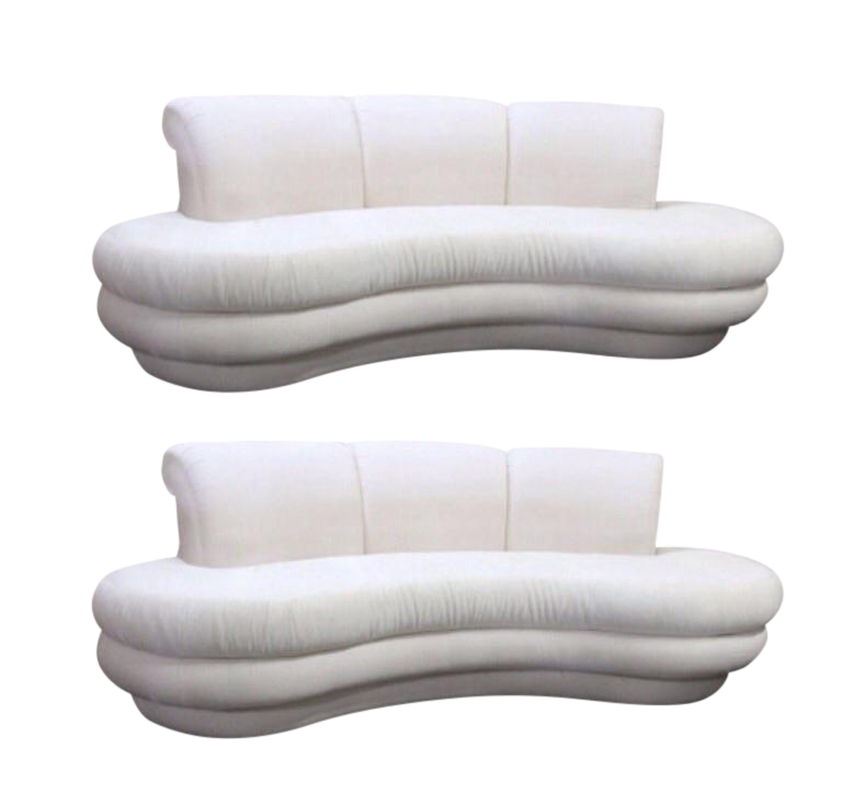 Amazing Adrian Pearsall For Comfort Designs Curved Kidney Sofas   A Pair Available    Image 1 Of