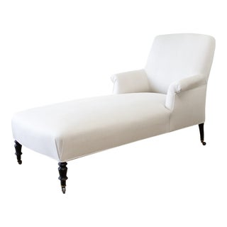 Vintage Napoleon Style Chaise Lounge For Sale