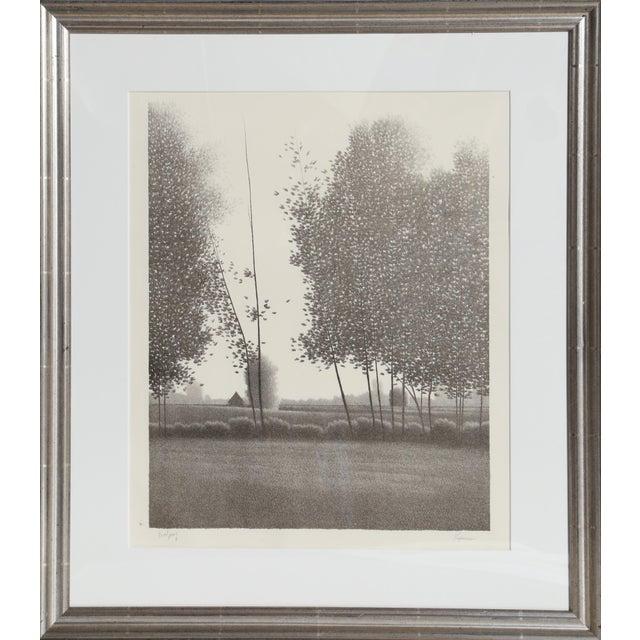 1980s Robert Kipniss, Tual Framed Mezzotint For Sale - Image 5 of 5