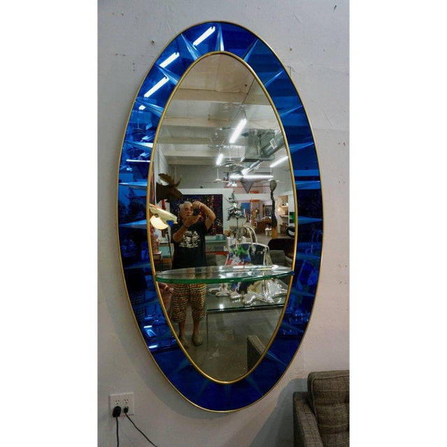 1950s Crystal Arte Wall Mirror For Sale - Image 5 of 6
