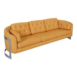 Vintage Floating Chrome Sofa by Milo Baughman For Sale