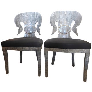 Mid-Century Tessellated Stone Chairs - A Pair For Sale