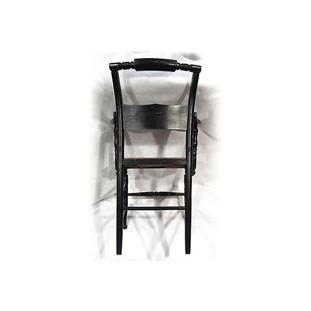 Tole Painted Hitchcock-Style Accent Chair - Image 8 of 9