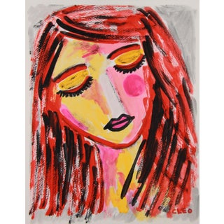 Fauvist Portrait Face Painting by Cleo Plowden For Sale