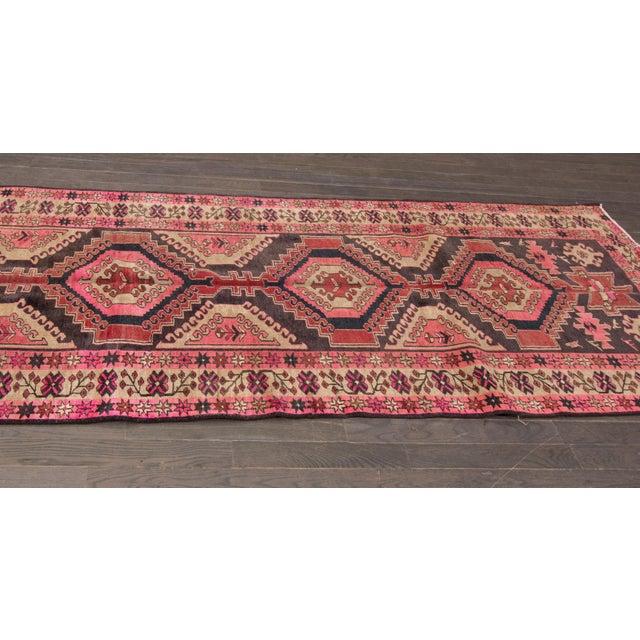 "Vintage Persian Heriz Rug, 3'8"" X 10'9"" - Image 7 of 8"
