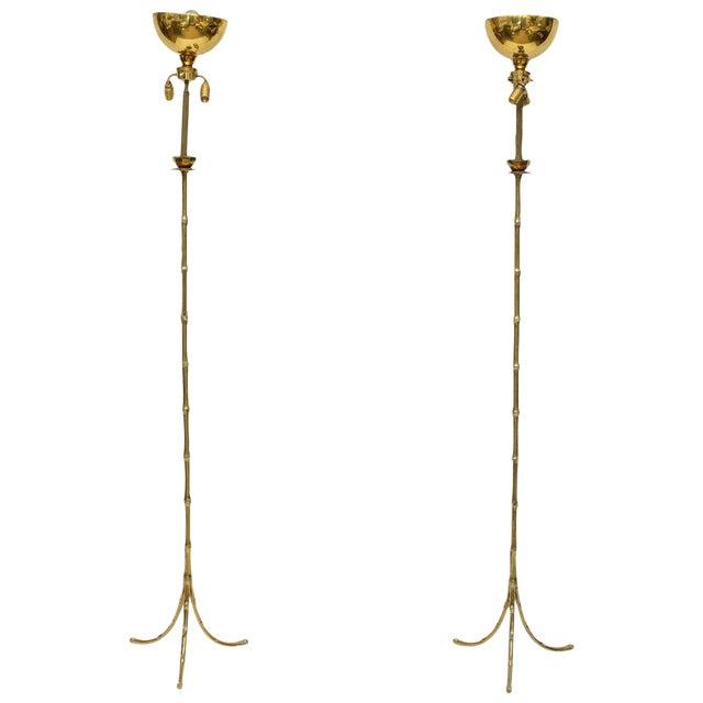Maison Baguès Floor Lamps - A Pair For Sale