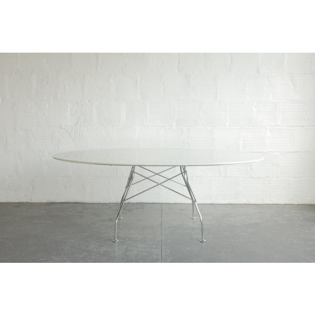 Metal Antonio Citterio Oval Glossy Table for Kartell For Sale - Image 7 of 7