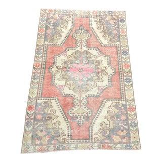 """Turkish Floral Patterned Oushak Rug-4'5'x6'7"""" For Sale"""