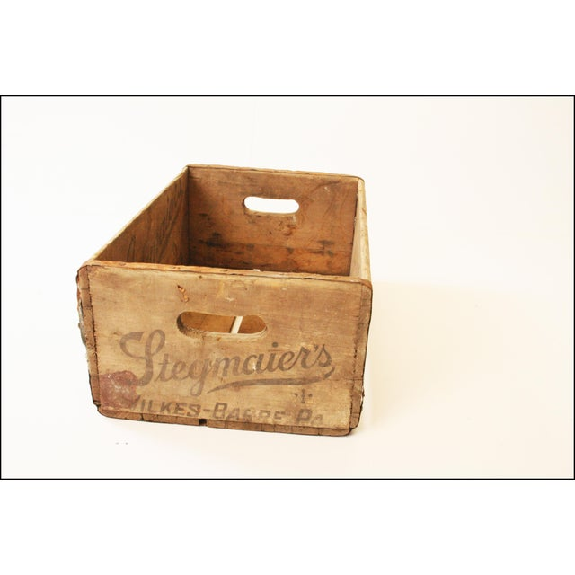 Vintage Rustic Stegmaier's Brewery Wood Crate For Sale - Image 10 of 11