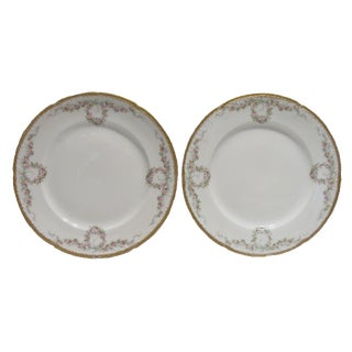 Gilt Haviland Limoges Plates - a Pair