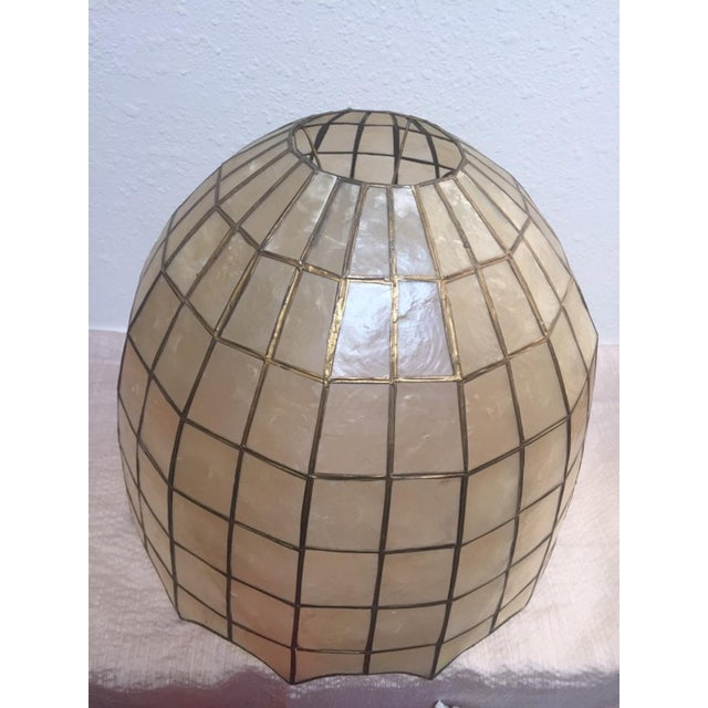 Vintage Capiz Shell Accent Lamp Shades For Sale - Image 4 of 6