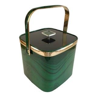 1960s Faux Malachite Culver Ice Bucket For Sale