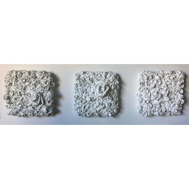 "Contemporary Chloe Hedden ""White Rosettes 2"" Sculpture For Sale - Image 3 of 4"