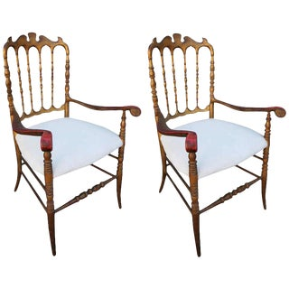 Ornate Gilded Chairs - a Pair For Sale