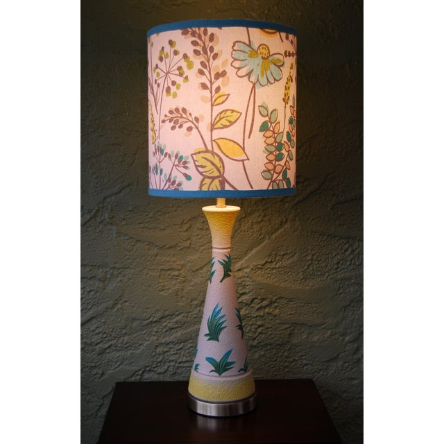 Vintage f.a.i.p. Tropical Chalkware Lamp W/ Custom Shade - Image 6 of 11