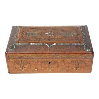 Antique Art Nouveau Inlaid Box For Sale