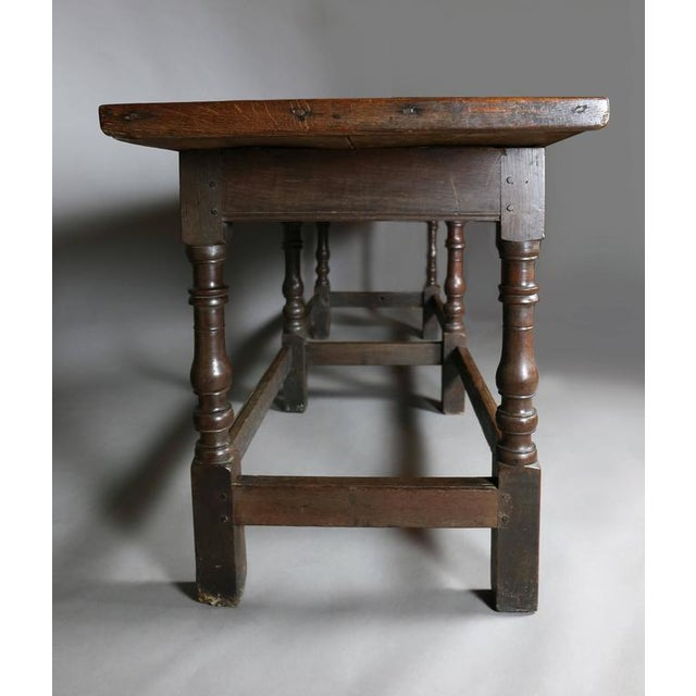 Jacobean Oak Refectory Table For Sale - Image 5 of 10