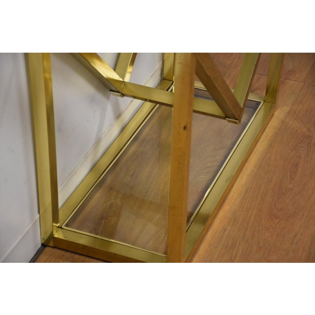 Brass Milo Baughman Style Brass Etagere For Sale - Image 7 of 9