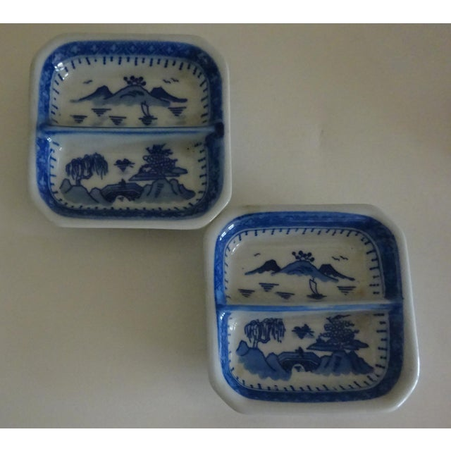 Chinese Chinese Blue Willow Sauce Dishes - a Pair For Sale - Image 3 of 4