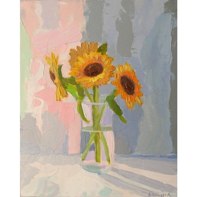 2010s Sunflowers by Anne Carrozza Remick For Sale - Image 5 of 6