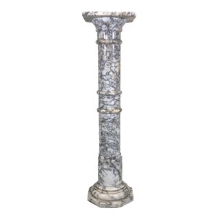 Vintage Italian Marble Pedestal Circa 1940's For Sale