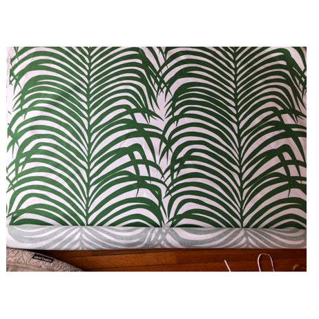 Boho Chic Zebra Palm for Schumacher Fabric- 4 Yards For Sale - Image 3 of 3