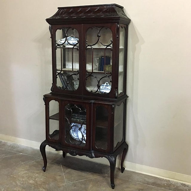 19th Century English Curio Cabinet For Sale - Image 4 of 13