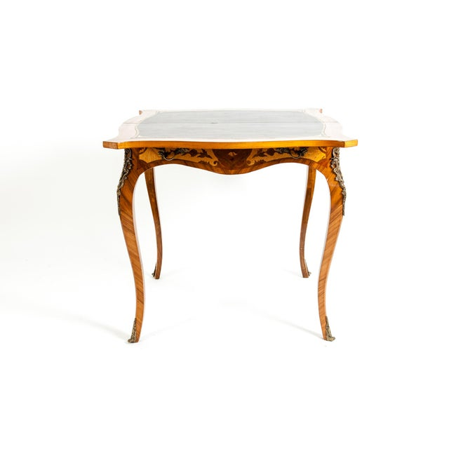 Kingwood / Mounted Bronze Details Card Table For Sale - Image 11 of 13