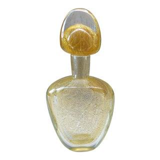Luigi Onesto for Sommerso Italian Murano Gold Infused Decanter Bottle