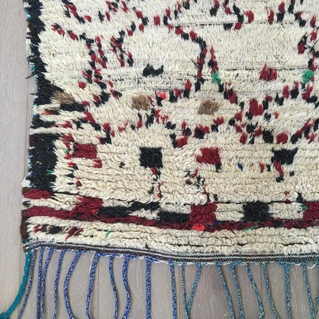 """Vintage Moroccan Wool Rug - 5' x 6'10"""" - Image 3 of 4"""
