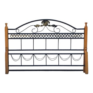 Country French Scrolled Headboard & Footboard - a Pair For Sale