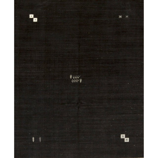 """Contemporary Hand Woven Brown Wool Rug - 7'7"""" X 9'4"""" For Sale - Image 4 of 4"""