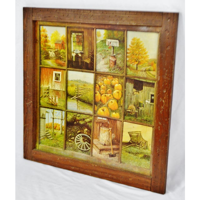 Vintage Home Interior HOMCO 12 Panel Rustic Window Pane Picture ...