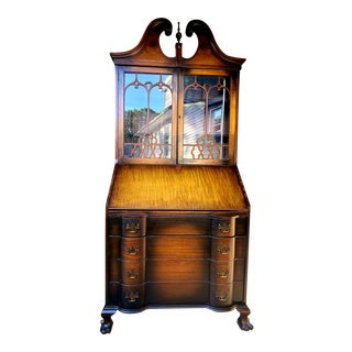 1900s Secretary Desk With Hutch For Sale
