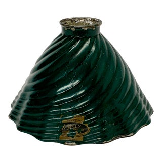 1920s Mercury Shade for Pendant With Green Enamel For Sale