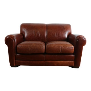 Robinson and Robinson Leather Love Seat For Sale