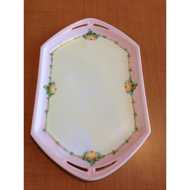 Cottage Small Porcelain Tray Hand Painted by M Z Austria For Sale - Image 3 of 8