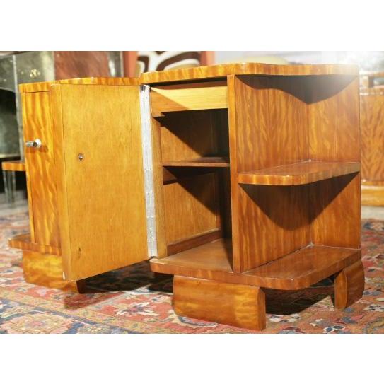 Art Deco Burl Wood Nightstands - A Pair - Image 7 of 8